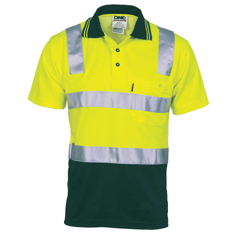 Orange cotton hi vis polo shirts for Hi vis polo shirts with pocket