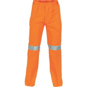 Cotton Drill Pants With 3M R/Tape