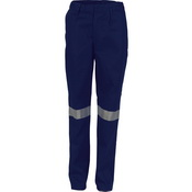 Ladies Cotton Drill Pants With 3M Reflective Tape