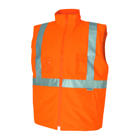 hivis FR & anti-static safety vest with 3M8935 FR R/Tape