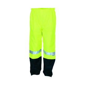 Hivis two tone FR & anti-static rain pants with 3M8935 FR R/Tape
