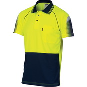 HiVis Cool-Breathe Sublimated Piping Polo - Short Sleeve