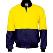 HiVis Two Tone Cott on Bomber Jacket