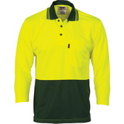 HiVis Two Tone Cool Breathe Polo Shirt, 3/4 Sleeve