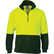 HiVis Two Tone 1/2 Zip Polar Fleece