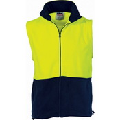 HiVis Two Tone Full Zip Polar Fleece Vest