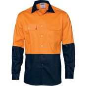 HiVis 2 Tone Cool-Breeze Cotton Shirt -
