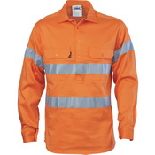 HiVis Close Front Cotton Drill