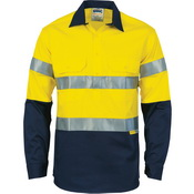 HiVis Two Tone Closed Front Cotton Shirt