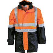 HiVis Two Tone Breathable Rain Jacket with 3M R/ Tape