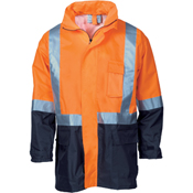 HiVis Two Tone Light weight Rain Jacket with 3M R/Tape