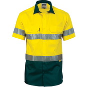 HiVis Cool-Breeze Cotton Shirt with 3M 8906 R/Tape - Short sleeve