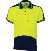 HiVis Cool Breathe Panel Polo Shirt - Short Sleeve