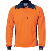 Cool Breathe Action Polo Shirt - Long Sleeve