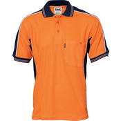 Poly/Cotton Contrast Panel Polo - Short Sleeve