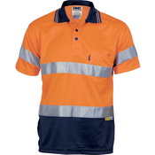 Hivis D/N Cool Breathe Polo Shirt With 3M 8906 R/Tape - Short Sleeve