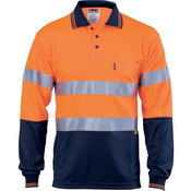 Hivis D/N Cool-Breathe Polo Shirt With 3M 8906 R/Tape - Long Sleeve