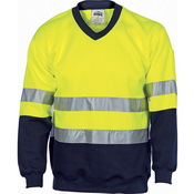 Hivis Two Tone Sweatshirt (Sloppy Joe) With Generic R/Tape V-Neck