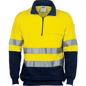 HiVis Two Tone 1/2 Zip Cotton Fleecy