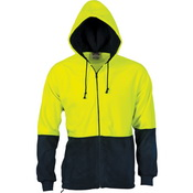 HiVis Two Tone Full Zip Polar Fleece Hoodie
