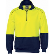 HiVis Two Tone 1/2 Zip Reflective Piping