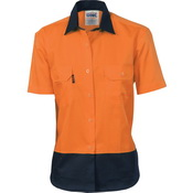 Ladies HiVis Two Tone Cotton