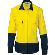 Ladies HiVis Two Tone Cott on
