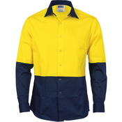 HiVis Cool Breeze Food Industry Cotton Shirt - Long Sleeve