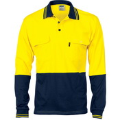 HiVis Cool-Breeze 2 Tone Cotton Jersey Polo