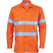 HiVis 3 Way Cool-Breeze Cotton Shirt with 3M