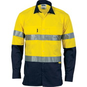 HiVis 3 Way Cool-Breeze Cotton Shirt with 3M R/Tape - Long sleeve