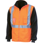 "HiVis ""4 in 1"" Zip off Sl eeve Revisabl e Vest,
