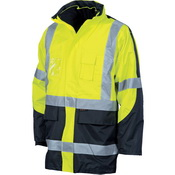 "HiVis Cross Back 2 Tone D/N ""6 in 1"" Contrast Jacket