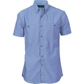 Cotton Chambray Shirt , Twin Pocket - Short Sleeve