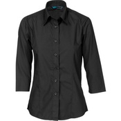 Ladies Polyester Cotton Shirt - 3/4 Sleeve