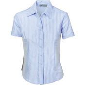 Ladies Tonal Stripe Shirts - Short Sleeve