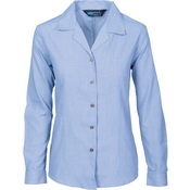 Ladies Revere Collar Mini (Check) Houndstooth B.Shirt - long sleeve