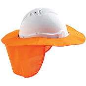 Detachable hard hat brim with flap