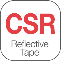 DNC also use CSR-1303 Generic Refl ective Tape for the value hi-vis range. CSR-1303 refl ective tape complies with AS/NZS1906.4:2010 for HiVis material. CSR-1303 - Home wash up to 50 cycles @ 60° C.