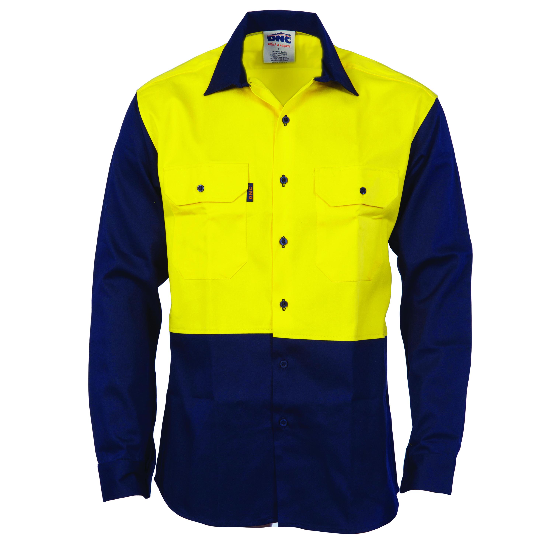 0242a979693f Patron Saint® Flame Retardant Two Tone Drill Shirt - L S