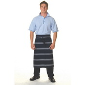 Blue & White Stripe 3/4 Apron - No Pocket