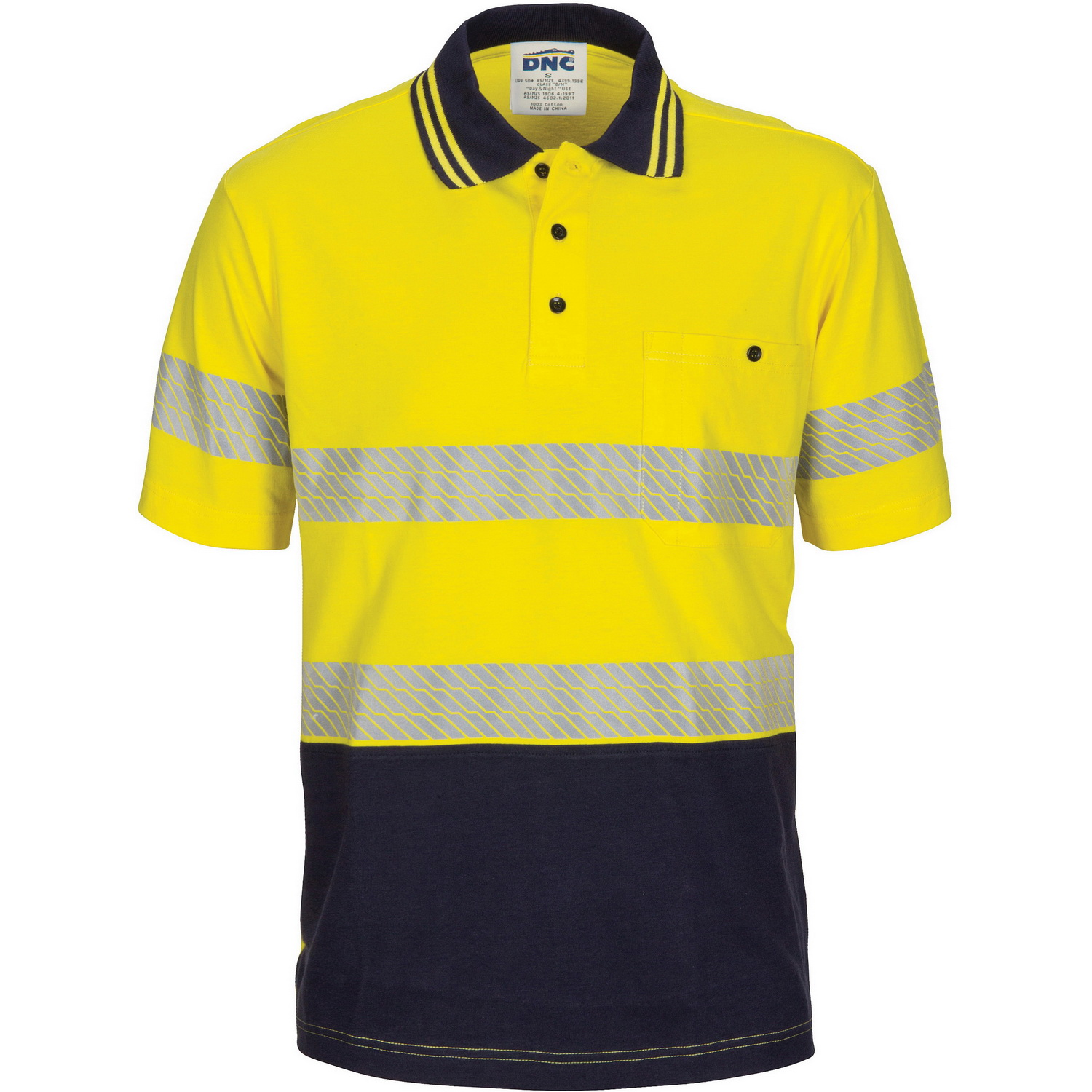 HIVIS Segment Taped Cotton Jersey Polo - Short Sleeve