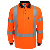 "Hi-Vis ""X' Back & Bio-motion Taped Polo"