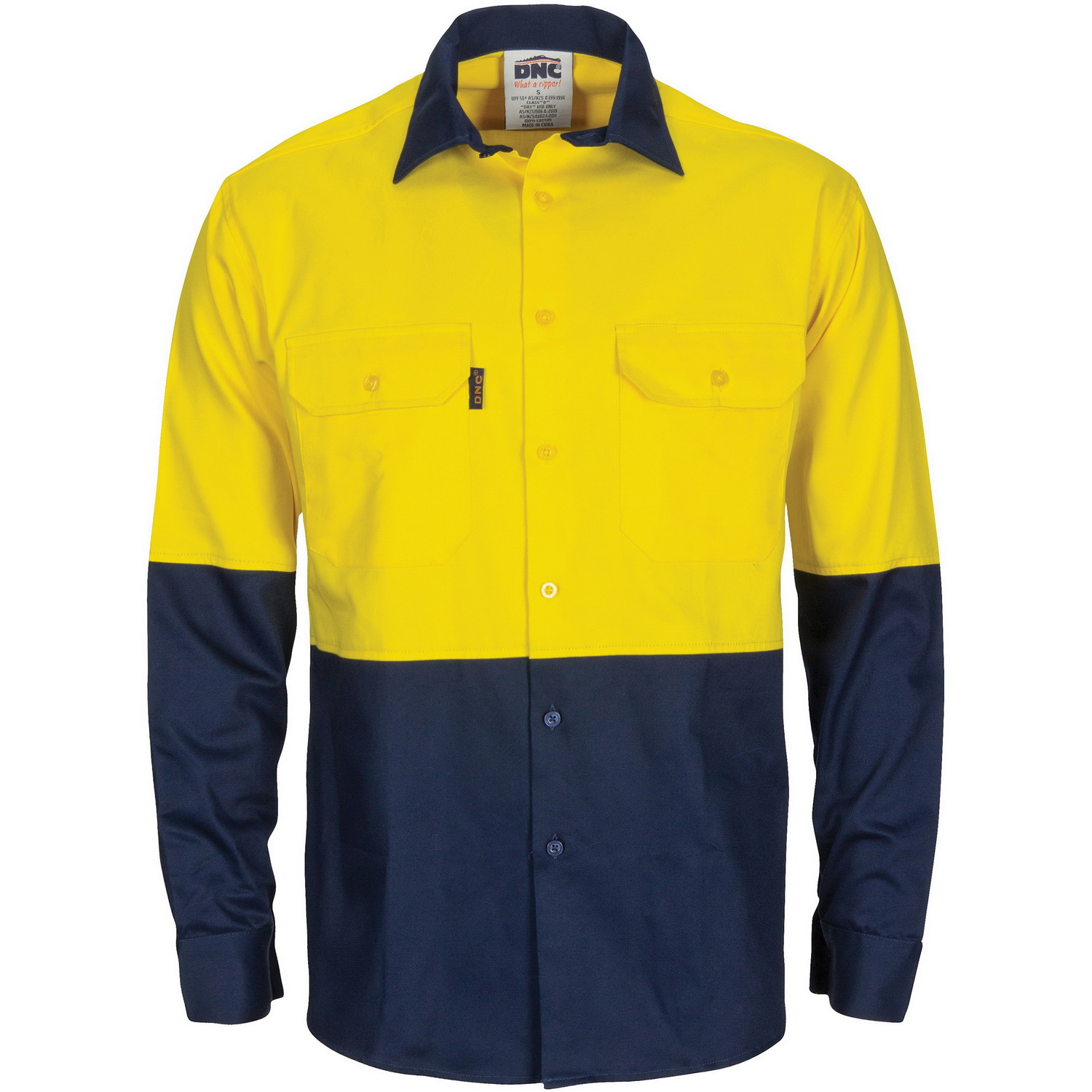 HiVis L/W Cool-Breeze T2 Vertical Vented Cotton Shirt with Gusset Sleeves - Long Sleeve