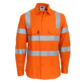 HiVis L/W CSR R/Tape VIC Rail Shirt- LS