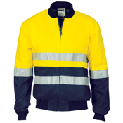 HiVis Two Tone D/N Cotton Bomber Jacket with CSR R/tape