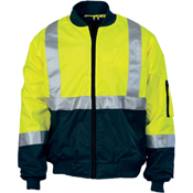 HIVIS 2 TONE BOMBER JACKET WITH CSR R/TAPE