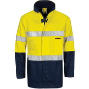 "HiVis Cotton Drill ""2 in 1"" Jacket with Generic Reflective R/Tape"
