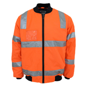 "HiVis ""Hoop"" pattern flying jacket Biomotion tape"