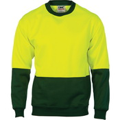 HiVis Two Tone Fleecy Sweat Shirt (Sloppy Joe) Crew-Neck